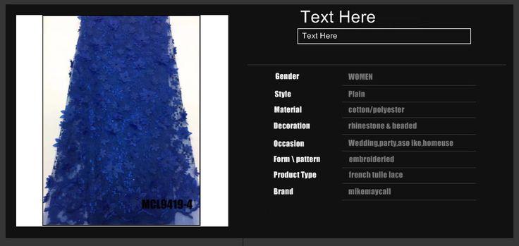 2017 Последние Африканский Кобальт синий тюль кружева 3D Цветок гипюр африканские бусы cupion кружевной ткани для свадьбы купить на AliExpress