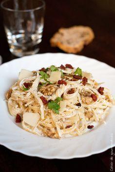 Pates à la ricotta, chorizo, noix et parmesan   Cahier de gourmandises