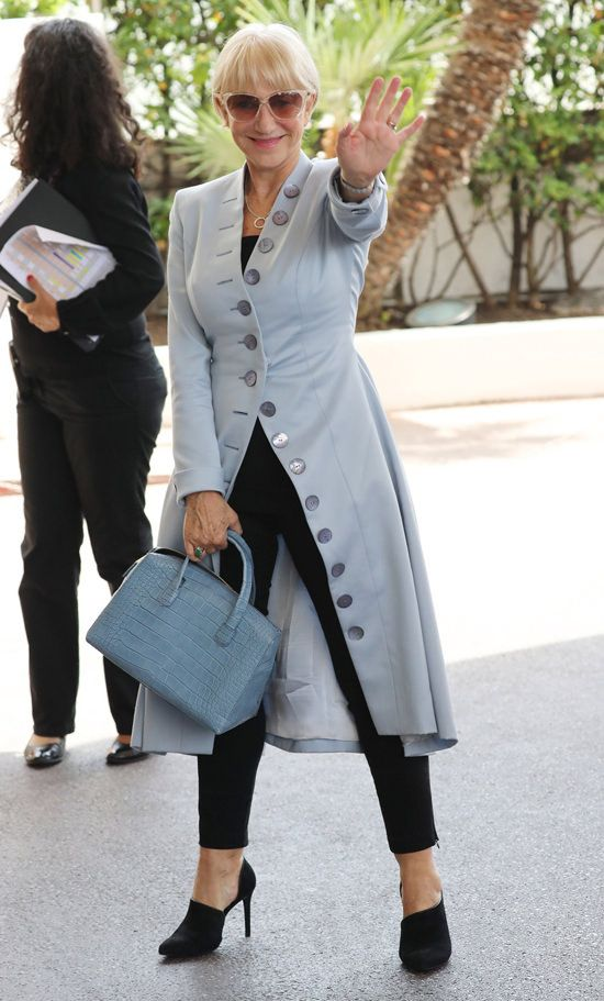 Helen Mirren is spotted at the Martinez Hotel during the 2016 Cannes International Film Festival in Cannes, France.