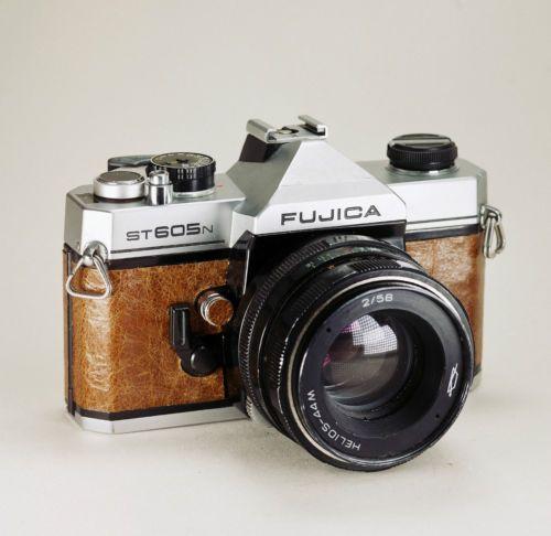 FUJICA ST605n / Brown Leather / Vintage Film SLR / LightBurn Camera / Helios 44M / £44.99
