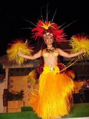 Гавайский женский костюм фото