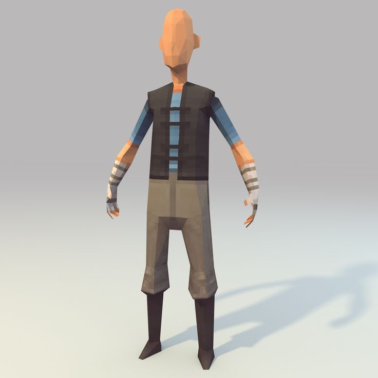 Low poly hero