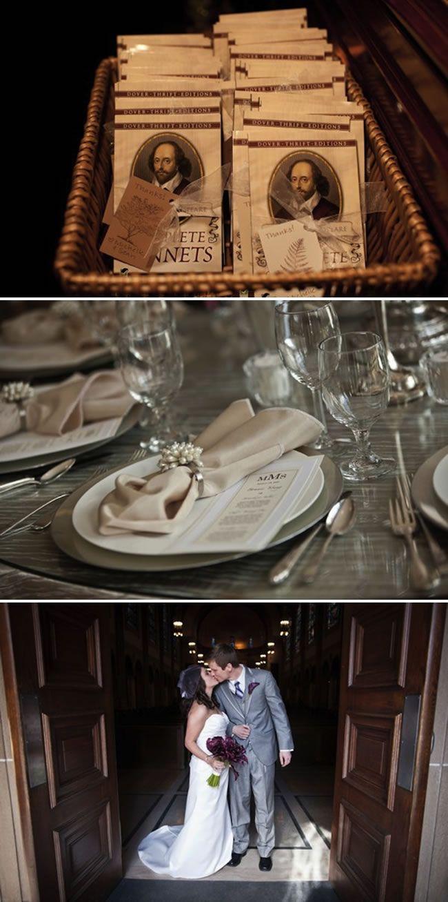 Shakespeare Wedding! Soooo cute!