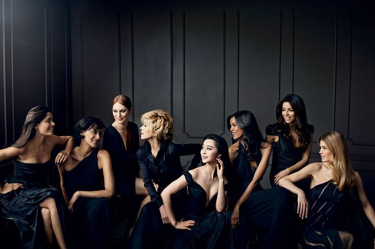The L'Oréal Paris spokesmodels, photographed by Norman Jean Roy for Color Riche Collection Privée.