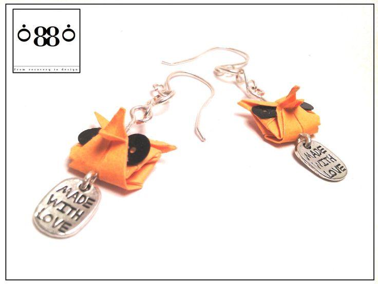 Orecchini+origami+gufo+di+0880+(aniM.E.creative)+su+DaWanda.com