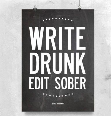 Canvas/Poster - Personlig - I LOVE DESIGN - Write Drunk