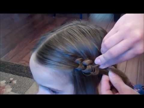 Making knots in hair design. Easy fun look especially in short hair. Its like making a cute barrette out of hair.