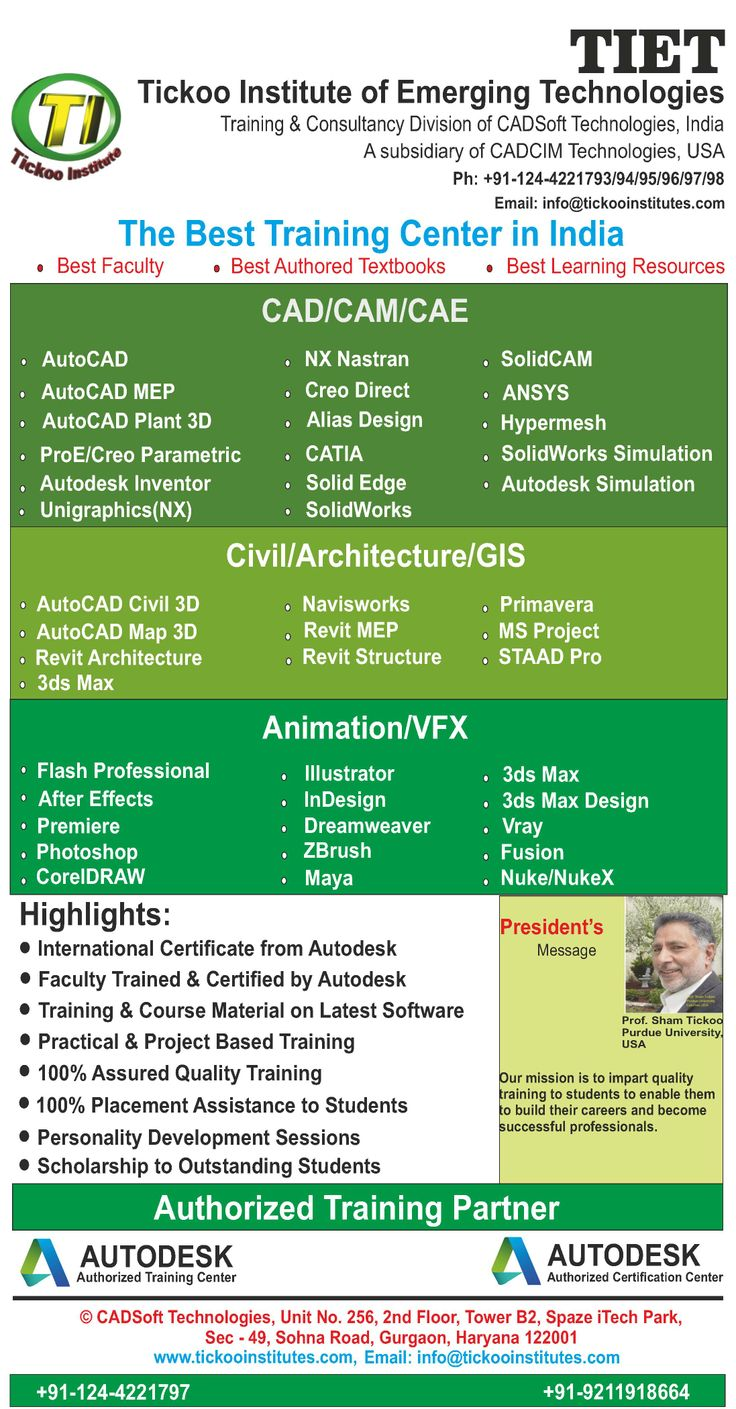 42 best best certified cadd training centre in chennai images on get trained on latest emerging technologies at tiet tiet is a training division of cadsoft xflitez Gallery