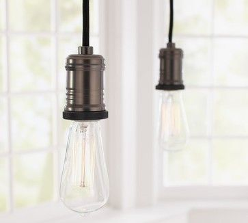 Exposed Bulb Pendant Track Lighting - contemporary - track lighting - Pottery Barn