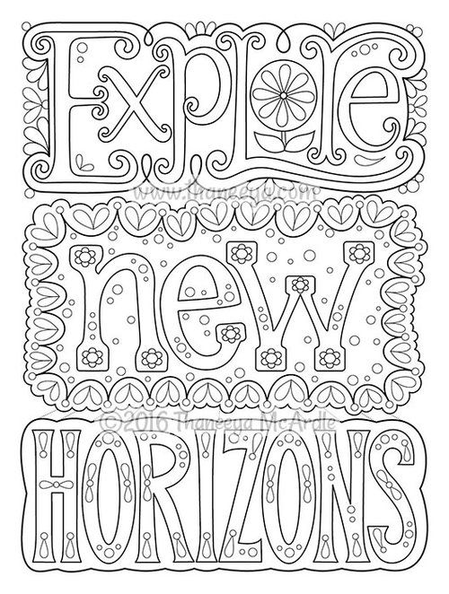 Explore New Horizons Coloring Page From Thaneeya McArdles More Good Vibes Book