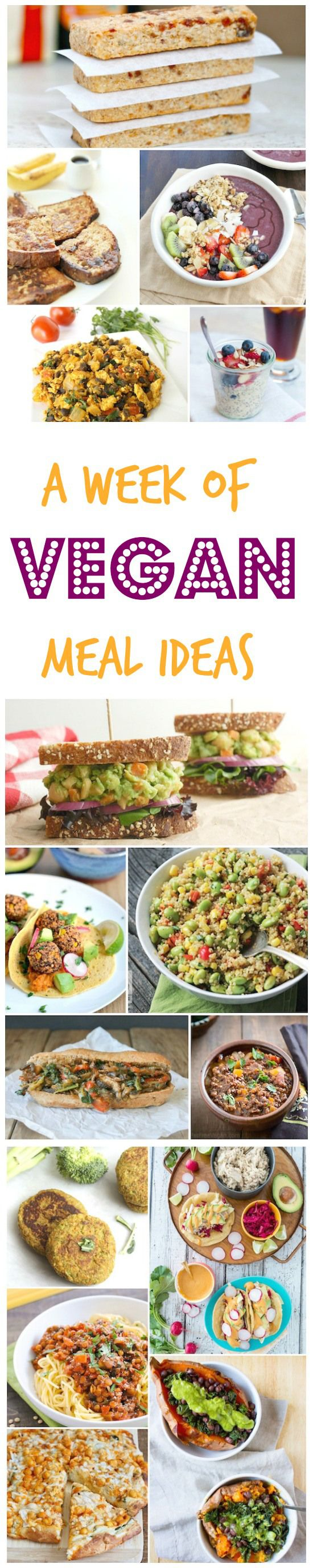 Menu planning? Check out this week of vegan meals for some delicious meatless breakfast, lunch and dinner ideas via @lin
