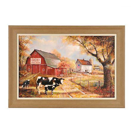 Autumn Dairy Farm Framed Art Print | Kirklands