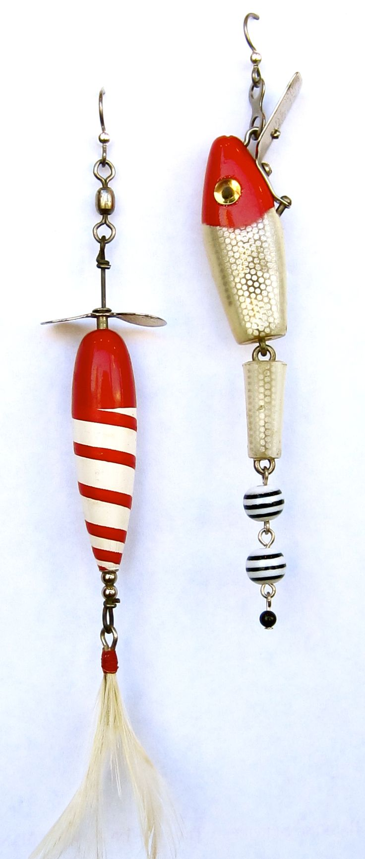 Lure making kits make your own fishing lures - Fishing Lure Earrings From Blue Door Beads