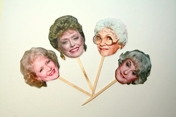 Golden Girls Cupcake Toppers Set of 12 by PaperPartyParade on Etsy