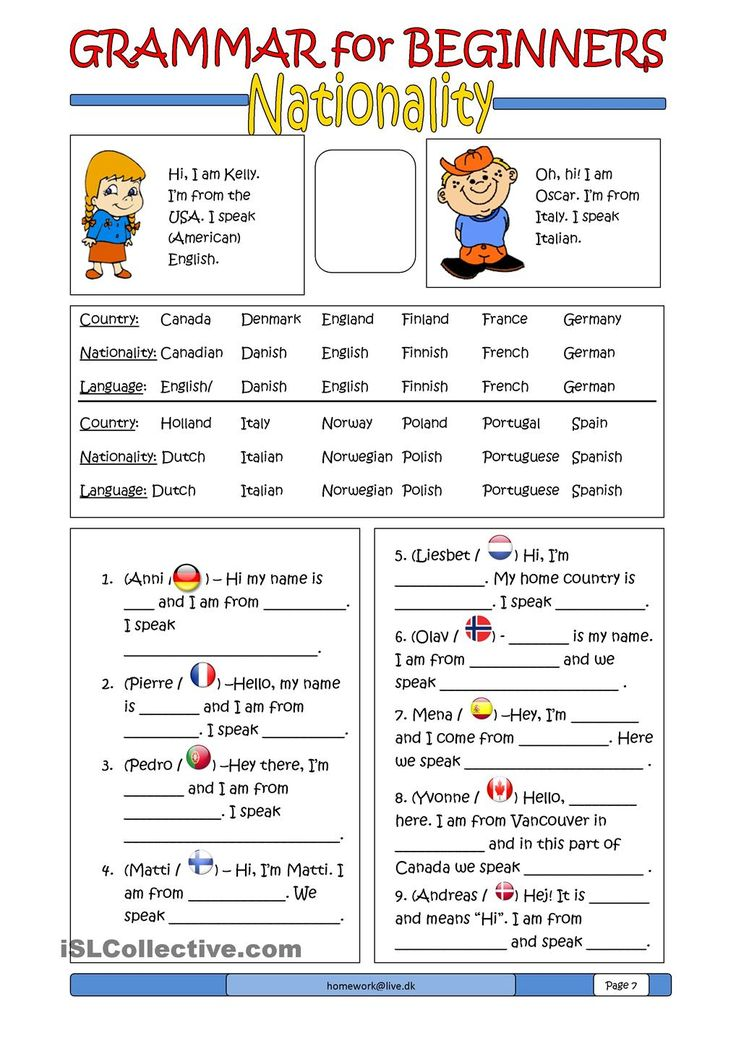 Grammar for Beginners: Nationality