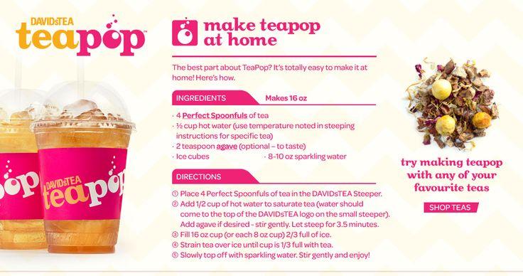 DavidsTea - Tea Pop Recipe and other Iced Tea Recipes