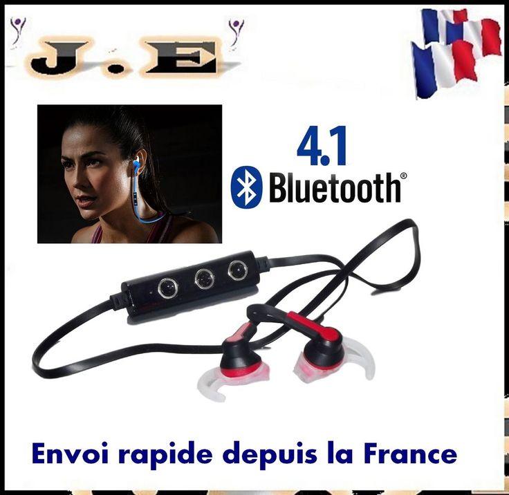 ECOUTEUR CASQUE SPORT OREILLETTE BLUETOOTH V 4.0 MP3 MUSIQUE SANS FIL