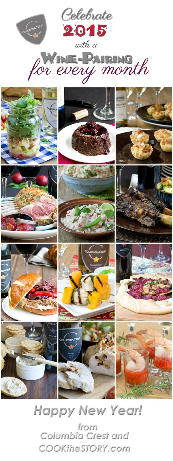 Best 25 wine dinner ideas on pinterest charcuterie tray recipe a wine pairing for every month forumfinder Gallery