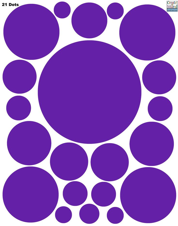 Polka Dot Decals- Purple Wall Sticker