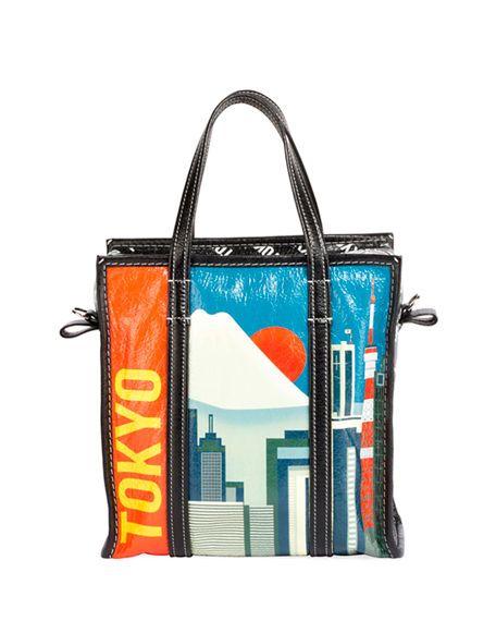 d22e661d82 Balenciaga Bazar Shopper Extra-Small Paris-Print Tote Bag