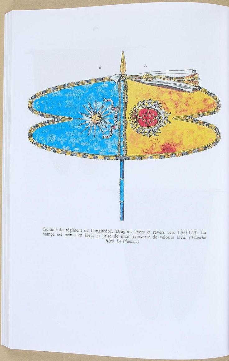Guidon des dragons du Languedoc _ 1760 - Drapeaux et étendards du Roi - Par Pierre CHARRIE