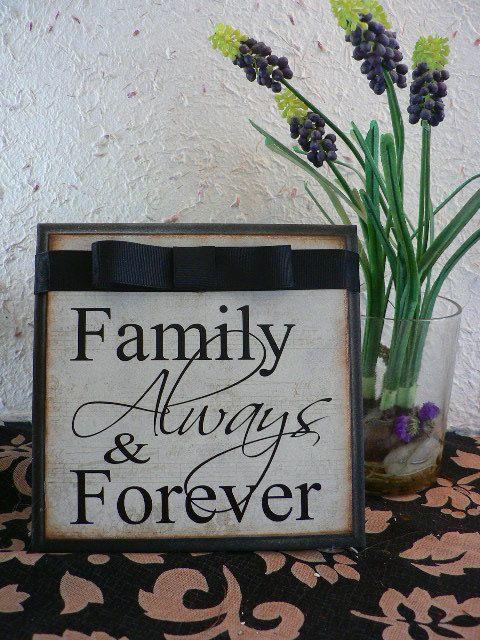 Family Always & Forever - Sign