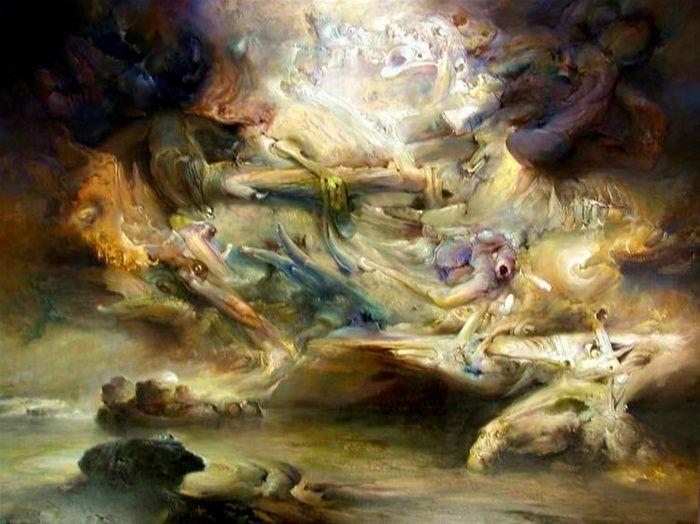 James Gleeson, Forecast 1993, oil on canvas, 152 x 203.5  cm