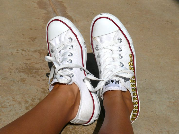 LowTop White Studded Converse by AnneandJeremy on Etsy, $150.00