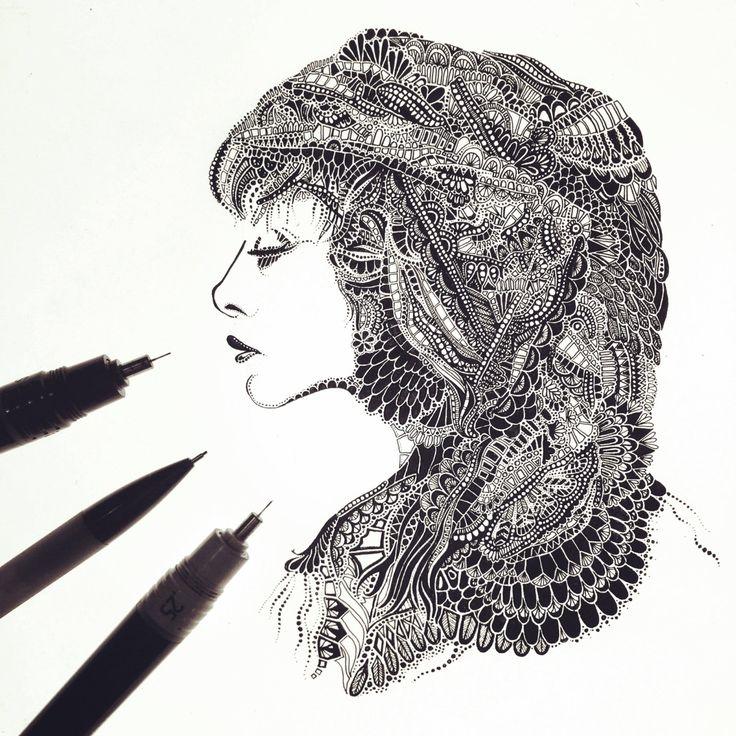 Rhiannon // Fleetwood Mac // Ink Drawing // Art Print