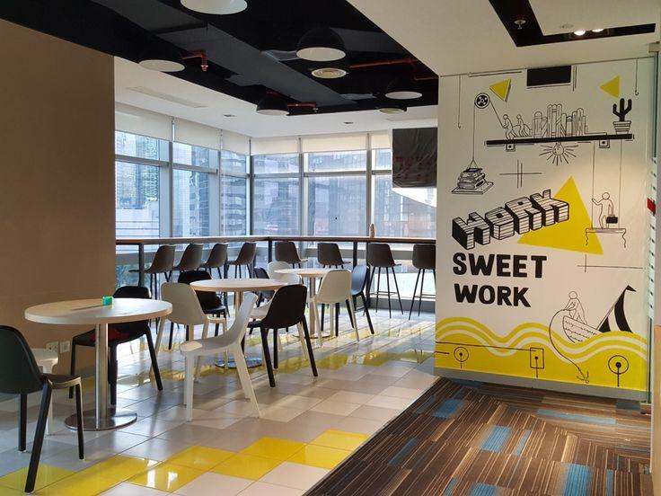 MURAL KANTOR jasa mural kantor, mural kantor, dekorasi kantor, mural bernuansa kuning, mural kantor sinarmas