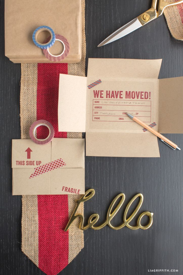 Vintage Airmail Moving Announcement - Lia Griffith