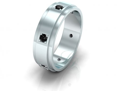 VICTORIA BLACK DIAMOND - Wedding Ring FOR HIM - LucyDiamonds.cz Unique ring with black diamonds for a unique man...