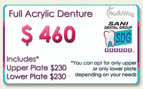Full Acrylic Dentures Cost in Los Algodones Mexico