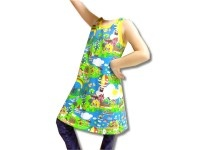 Summer dress    sewed from high-class fabrics    according to Farbenmix-Pattern Whitney    Size 86/92, 98/104, 110/116 or 122/128
