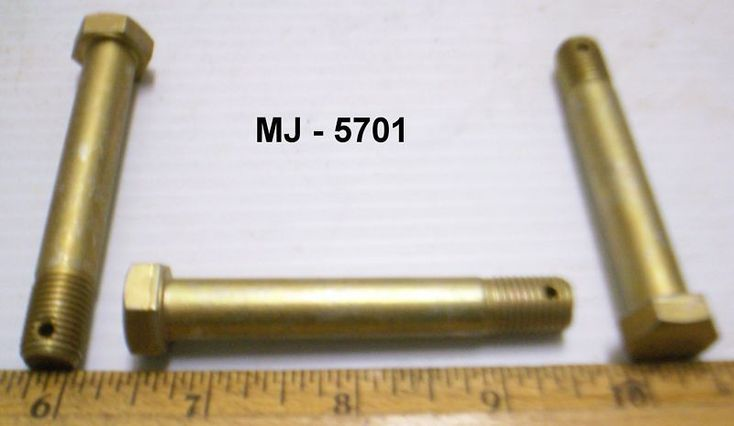"Lot of 8 - 7/16"" Hex Head Machine Bolts -  P/N: AN7 26  (NOS) #Unknown"