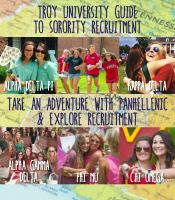 Troy University Guide to Sorority Recruitment: Registration begins 5/1/16 and ends 8/25/16