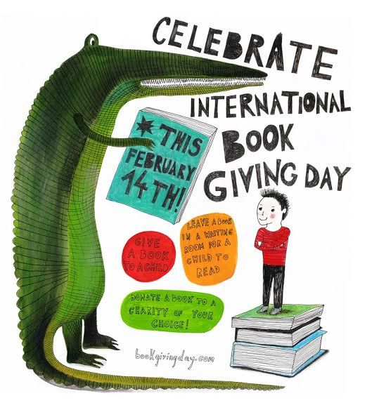 Feb 14th is also International Book Giving Day. :: PragmaticMom #giveabook: Valentine'S Day, Reading, Books Posters, February 14Th, Valentines Day, Celebrity International, Children Books, International Books, Borrowed Books