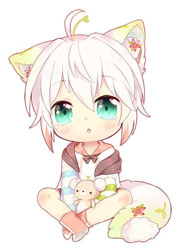 Chibi Neko Zexion by KiiroNoUsagi on DeviantArt  |Chibi Anime Neko Girl