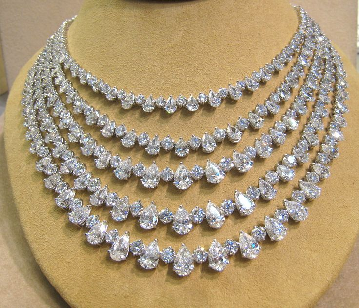 Row Diamond Necklace...leaves me speechless