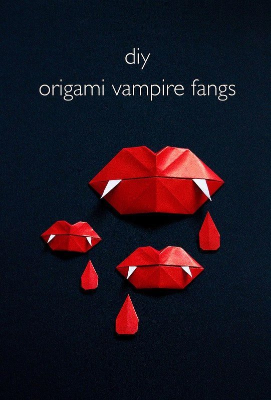 How To: Vampire Fang Origami Lips - @kenchuto have you seen this?? :)