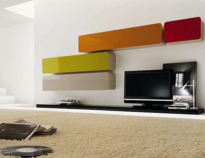 Glass Wall Unit Composition 2 , Wall Storage Systems, Go Modern Furniture