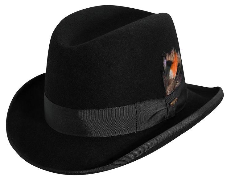 Scala Mens Wool Felt Winter Homburg Hat