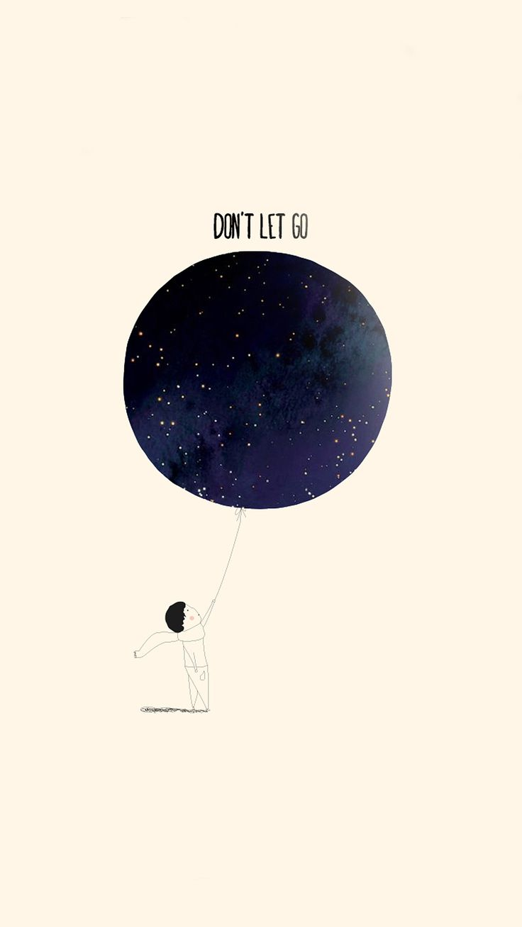Don't Let Go Illustration iPhone 6 Plus Wallpaper