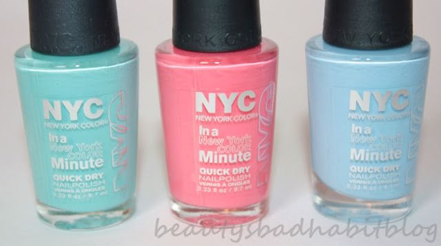 fleur's fave TIFFANY BLUE nail colour (NYC nail polish in blue sky) - http://www.youtube.com/watch?v=BV1T-7dXyeo=em-uploademail