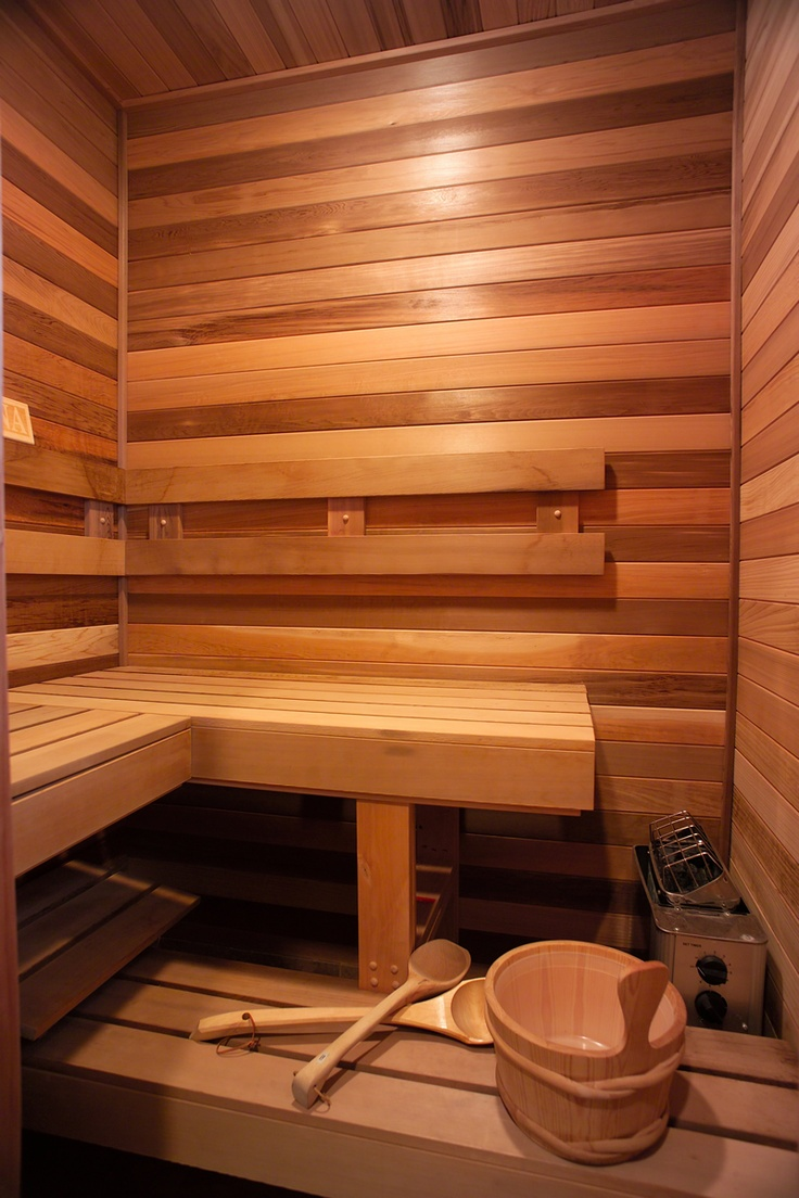 someday I'd love to have a sauna at my house. Indoor/outdoor. I don't care. Just a small space to sit and relax and let the heat melt the impurities and stress away.