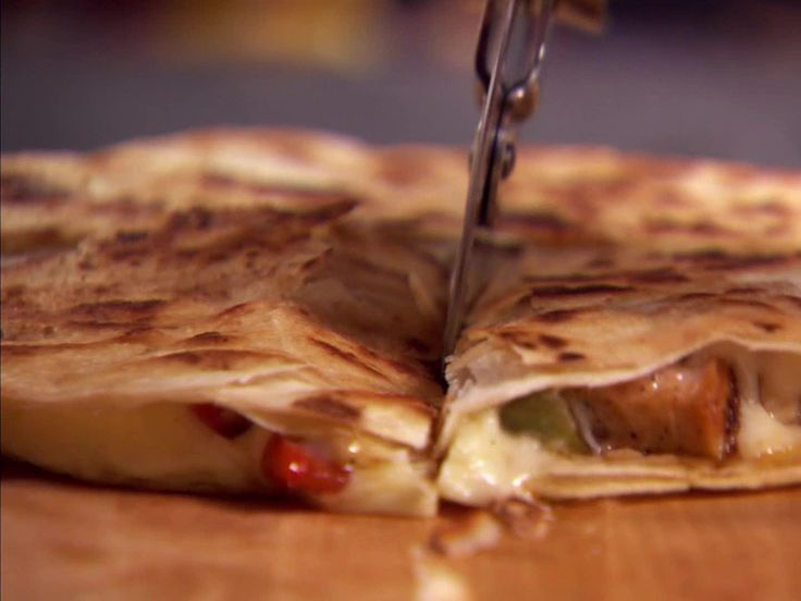Chicken Quesadillas recipe from Ree Drummond via Food Network Freezer meals - use frozen grilled chicken