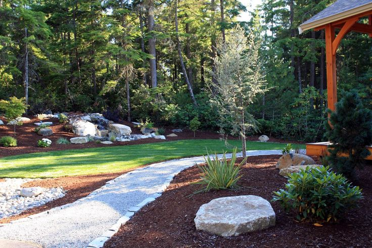 12 best front yard images on pinterest yard design for Landscaping rocks kitsap county