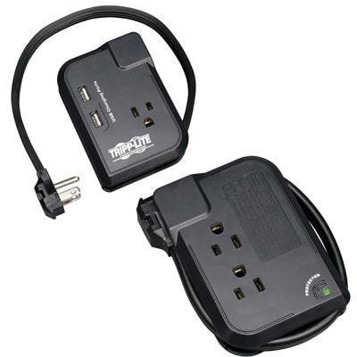 Tripp Lite's portable TRAVELER3USB surge suppressor offers complete surge suppression for laptops, electronic notepads, personal organizers and other portable electronic devices. Compact and portable,