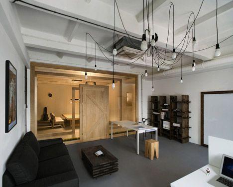 Pride & Glory by Polish designers Morpho Studio #meeting room - love the lighting