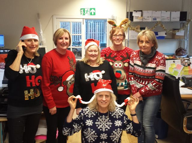 #christmasjumperday for Save the Children - this is the Shelton sales team of #pretavivre